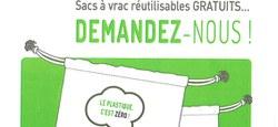 En route vers le zéro déchet! Venez demander vos sacs réutilisables gratuits à l'Administration!