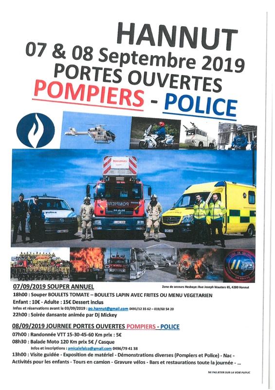 portes ouvertes pompiers police