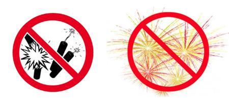 Rappel de l'interdiction permanente de tirs de pétards ou  de feux d'artifice !