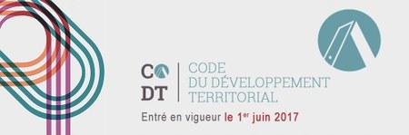 Urbanisme: entrée en vigueur du CoDT depuis le 1er juin 2017.