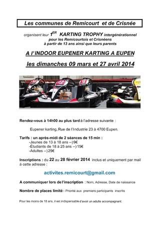 1er Karting Trophy intergénérationnel